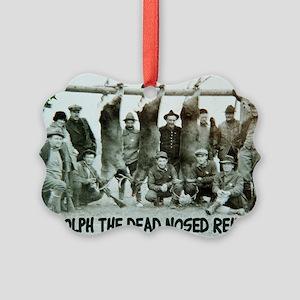 Bad taste Rudolph Xmas Picture Ornament