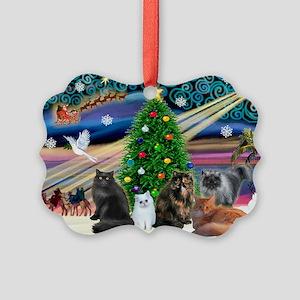 Xmas Magic/5 Persian Cats Picture Ornament0