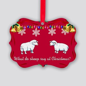 Christmas Sheep Picture Ornament