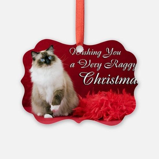 Ragdoll Cat Christmas Ornament