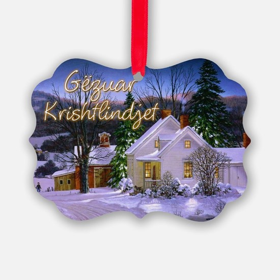 Snowy Home Ornament