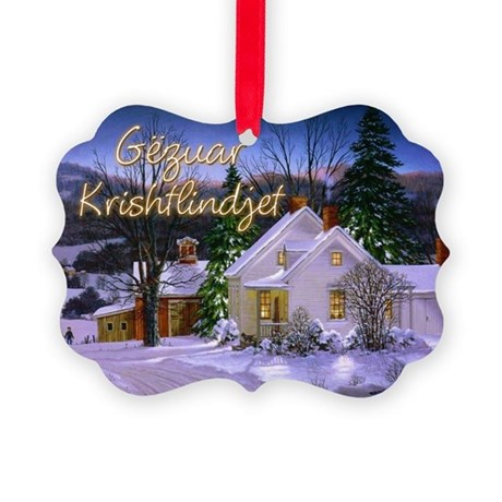 Snowy Home Picture Ornament