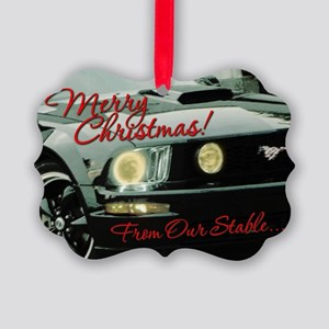 Mustang Picture Ornament V2 (Pk of 20)