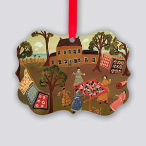 THE CRAZY QUILTERS Picture Ornament