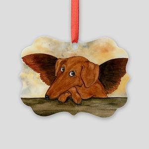 Dashie Cherub Picture Ornament