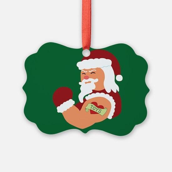 Santa Tattoo Ornament