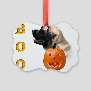 Boo Fluffy2 Picture Ornament