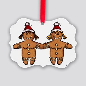 lesbian gingerbreads Picture Ornament