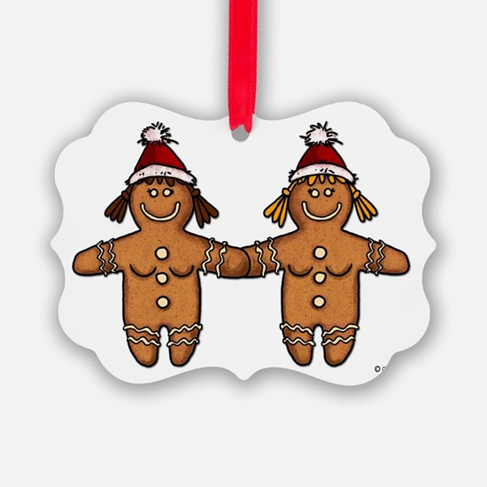 lesbian gingerbreads Ornament