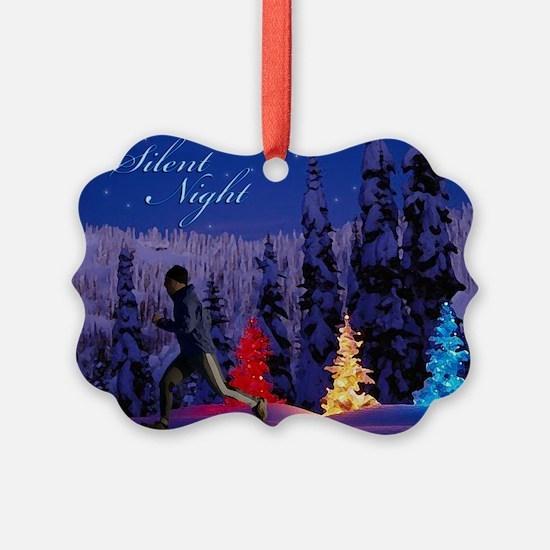 Silent Night - Christmas Scene (Male Runner) Greet