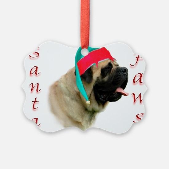 Santa Paws fawn2 Ornament