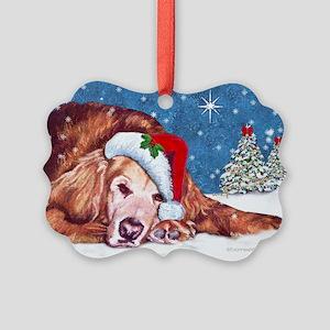 Golden Retriever Christmas Picture Ornament