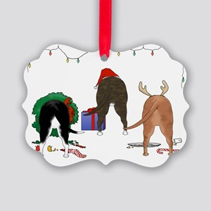Staffie Christmas Picture Ornament