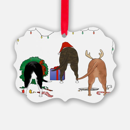 Staffie Christmas Ornament