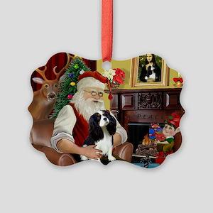 Santa's Tri Cavalier Picture Ornament