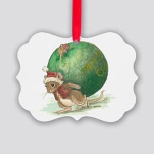 Christmas Mouse Picture Ornament