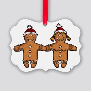 gingerbread couple Picture Ornament