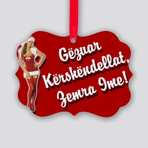 Sexy Christmas Picture Ornament