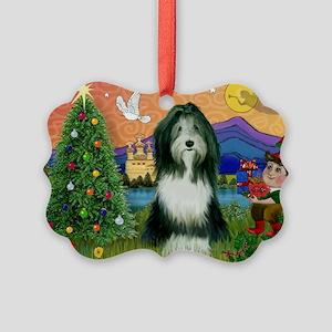 Xmas Fantasy & Beardie Picture Ornament