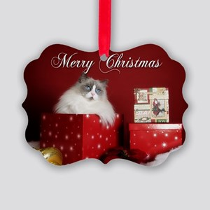 Ragdoll Cat Picture Ornament