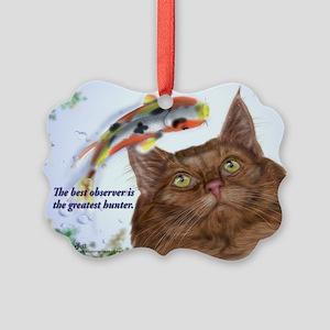 Amazing hunter skogkatt Picture Ornament