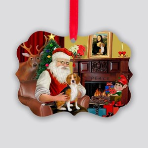 Santa's Beagle Picture Ornament