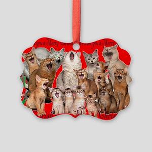Somali cat Christmas Picture Ornament