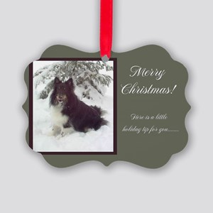 Tri-Color Sheltie Picture Ornament