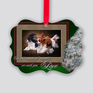 Cavaliers Christmas Picture Ornament