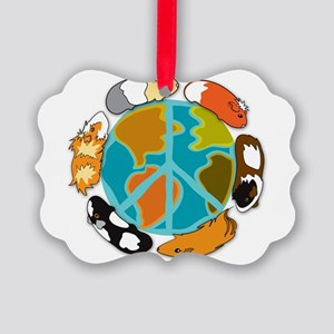 Pigs on Earth Picture Ornament