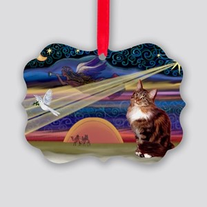 XMas Star / Maine Coon Picture Ornament