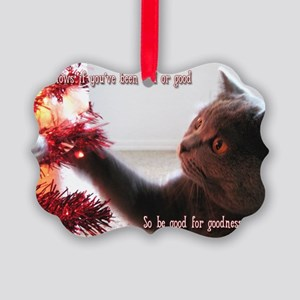British Shorthair Cat Picture Ornament