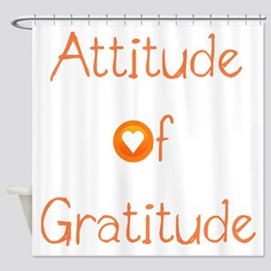 Attitude of Gratitude Shower Curtain