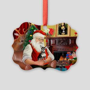 Santa's Chih (b&t) Picture Ornament