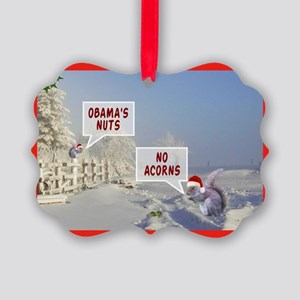 Anti Obama funny Christmas Picture Ornament