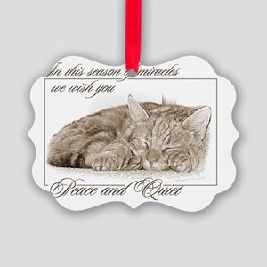 Sleeping Kitten Picture Ornament