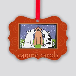 Dog, Canine, Christmas Carols Picture Ornament