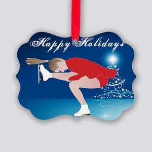 Holiday Skater Picture Ornament
