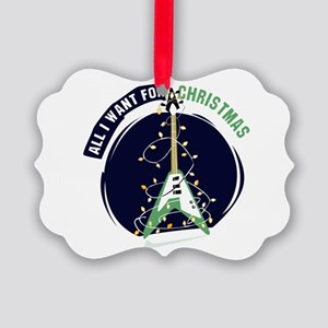 All I Want For Christmas Green Picture Ornament