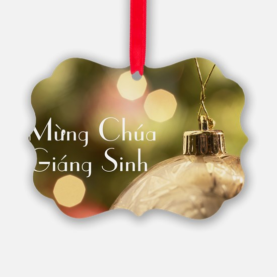 Vietnamese Merry Christmas Ornament