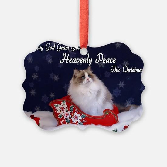 """Heavenly Peace"" Ragdoll Cats Ornament"