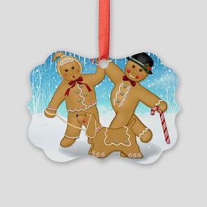 Gingerbread Trio Picture Ornament