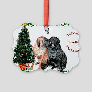 Mistletoe Kiss Picture Ornament