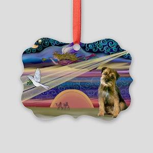 Xmas Star & Border T Picture Ornament