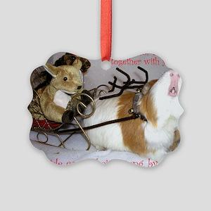Pig Carols Xmas Picture Ornament