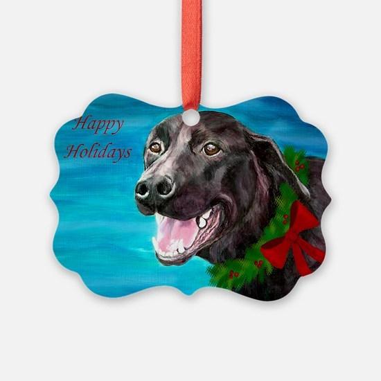 Black Labrador Rescue Dog Ornament