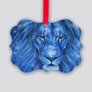Winter Lion Picture Ornament