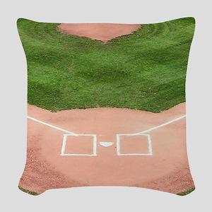 Baseball Field Woven Throw Pillow