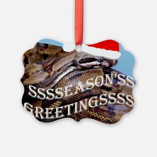 Santa Snake Ornament