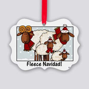 fleece navidad Picture Ornament